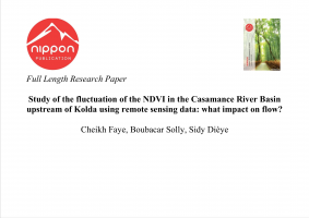 Study of the fluctuation of the NDVI in the Casamance River Basin upstream of Kolda using remote sensing data: what impact on flow?