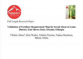 Validation of Fertilizer Requirement Map for bread wheat at Lume District, East Shewa Zone, Oromia, Ethiopia