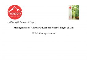 Management of Alternaria Leaf and Umbel Blight of Dill