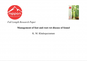 Management of foot and root rot disease of fennel